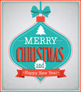 Merry Christmas Paper Card With Hanging Toy. Stock Photos - 48110883