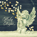 Little Guardian Angel With Shiny Lights. Christmas Decoration Stock Image - 48113641