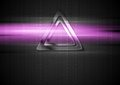 Metal Triangle And Purple Shiny Light Design Stock Photography - 48121972