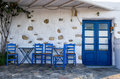 Facade Of A Small Traditional Tavern In Ano Koufonisi, Cyclades, Greece Stock Photography - 48123162