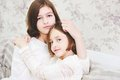 Portrait Of Two Beautiful Little Girls Stock Photography - 48124902