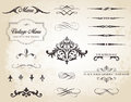 Vintage Vector Label Page Dividers And Borders Stock Photo - 48133450