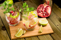 Mojito And Fruits On A Cutting Board Stock Photos - 48140193