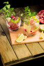 Mojito And Fruits On A Cutting Board Stock Photo - 48140250
