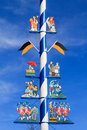 Detail Of A Maypole In Munich Royalty Free Stock Photography - 48177127