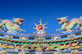 Temple Chinese Dragon Roof Stock Photos - 48177463