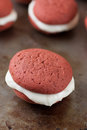 Red Velvet Peppermint Whoopie Pie Royalty Free Stock Images - 48177519