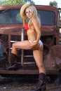 Sexy Cowgirl Stock Photos - 48181533
