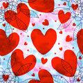 Red Love Shape Seamless Pattern Stock Photos - 48192593