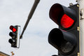 Traffic Light With Red Light Stock Photography - 48199172