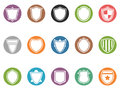Shield Icon Buttons Set Royalty Free Stock Photos - 48208388