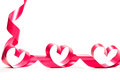 Valentine Heart. Elegant Red Satin Gift Ribbon. Royalty Free Stock Photos - 48210738