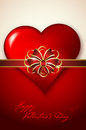 Valentines Day Background With Abstract Heart And Bow Stock Image - 48216451