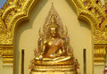 Gold Colour Buddha Statue In Buddhist Temple Stock Photography - 48222262