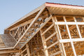Framing New Wooden Building Structure Construction Stock Photography - 48234862