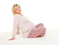 Pregnant Woman Isolated Royalty Free Stock Images - 48236409