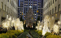 Angel Christmas Decorations And Christmas Tree At The Rockefeller Center In Midtown Manhattan Stock Photography - 48242652