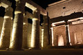 Temple Of Luxor At Night Stock Image - 48243681