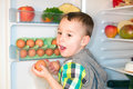 Little Boy With Eggs Stock Image - 48251371