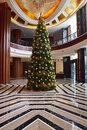 Christmas Tree Decoration In A Local Boutique Hotel In Malaysia Stock Photos - 48285363