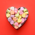 Candy Hearts In Box Stock Images - 48293974