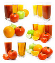 Fresh Fruits Vegetables And Juice In Glass Royalty Free Stock Images - 4835919