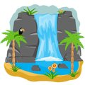 Waterfall In Tropic Royalty Free Stock Photography - 48302847
