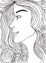 Abstract Sketch Of Woman Face Royalty Free Stock Images - 48308319