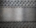 Metal Plate Over Scales Armor Background Stock Photo - 48316840