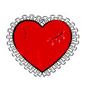Abstract Wounded Heart Stock Photography - 48323612