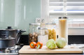 Utensil On Counter In Kitchen Room At Home Stock Images - 48328894
