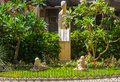 Park With Statues Honoring Teachers 1969, Almeria Spain Royalty Free Stock Photos - 48350168