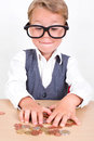 Little Boy With Money Stock Photography - 48354802