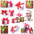 Flowers Gift Box Bow Ribbon Royalty Free Stock Photography - 48361517