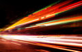 Moving Cars With Fast Blurred Trail Of Headlights Stock Image - 48369741