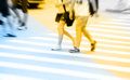 People Commuting In Rush Hour At Zebra Crossing Stock Images - 48369854