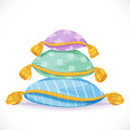 Pile Of Pillows With Tassels Royalty Free Stock Photography - 48377497