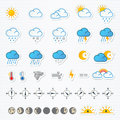 Weather Icons Royalty Free Stock Image - 48378366