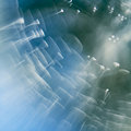 Abstract Underwater Composition With Jelly Balls, Bubbles And Light Stock Photo - 48385290