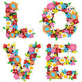 LOVE Spring Flowers Royalty Free Stock Images - 4842629