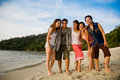 Group Of Friends By The Beach Royalty Free Stock Images - 4842759