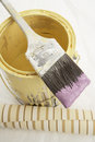 Angled Brush On Paint Can Royalty Free Stock Photos - 4847158