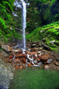Cascading Waterfall Into Pond Stock Photo - 4848250