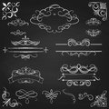 Vintage Borders Calligraphic Set Royalty Free Stock Photography - 48409187