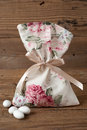 Fabric Pouch Wedding Favor Stock Photography - 48410942