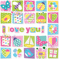 I Love You Pattern Royalty Free Stock Image - 48423556