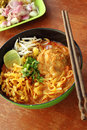 Close Up Thai Northern Spicy Pork Noodle Stock Image - 48429211