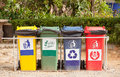 Ecology Container Recycling Bins In The Park. Stock Images - 48429654