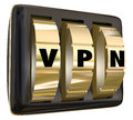 VPN Lock Dials Virtual Personal Network Internet Connection Secu Stock Image - 48440811