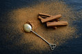 Cinnamon On A Dark Backround Stock Images - 48450364